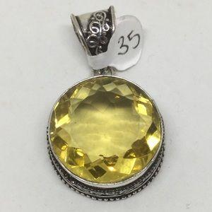 Handmade Jewelry - Sparkling Citrine Silver Pendant